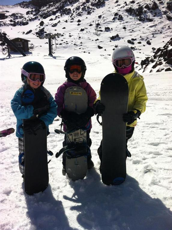 New snowboarders giving it a go